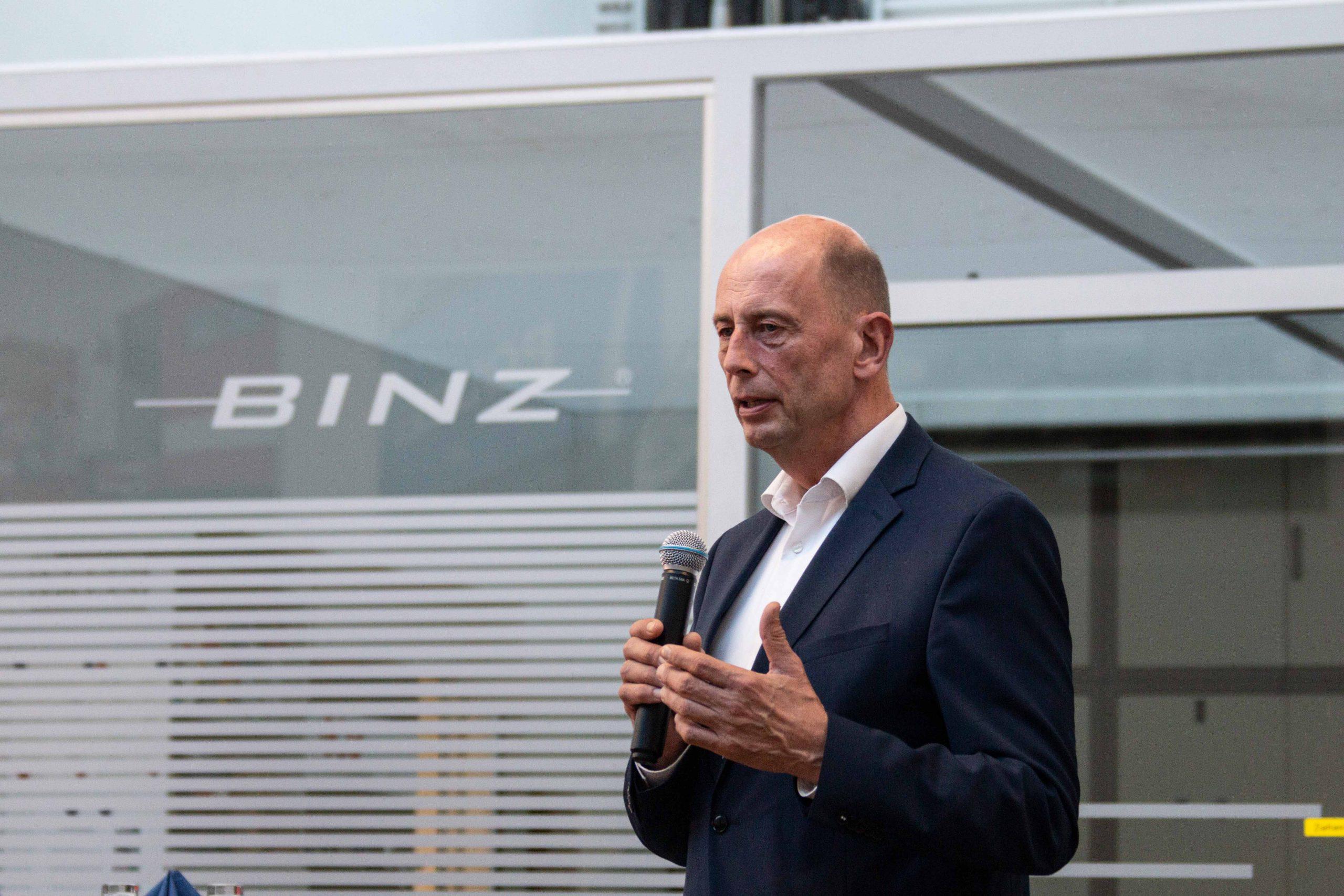 Wirtschaschtsminister Tiefensee zu Gast bei BINZ