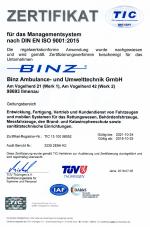 Zertifikat ISO 9001 gültig bis 2021-10-24