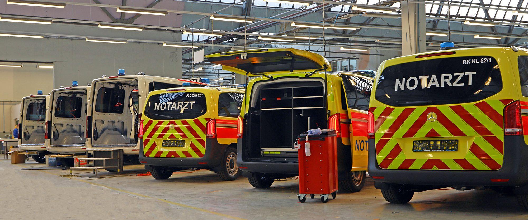 BINZ Ilmenau Fertigung Ambulanz