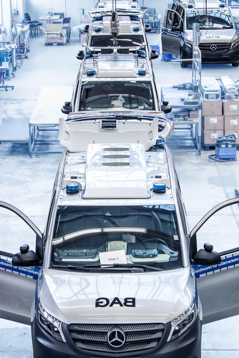 Produktionslinie BINZ MKD-Fahrzeug